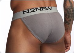 N2N Mojave Cutaway Sports Brief Grey