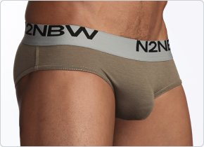 N2N Mojave Hip Brief Olive