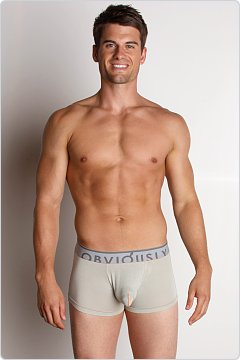 Obviously Contrast Low Rise Boxer Brief Bone
