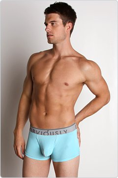 Obviously Contrast Low Rise Boxer Brief Light Blue