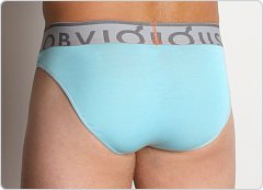 Obviously Contrast Low Rise Brief Light Blue