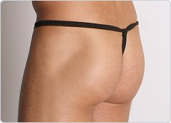 PB Cotton String Thong Black