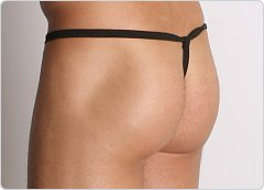 PB Mesh String Thong Black