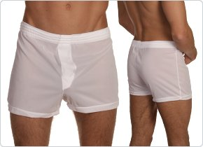Players White 100% Nylon Boxer