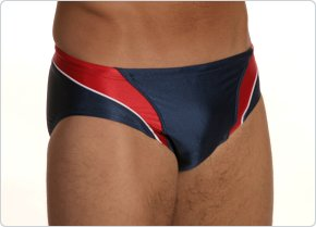 Speedo Axcel Splice Brief Navy/Red