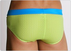 Tulio Power Pouch Athletic Mesh Briefs Green