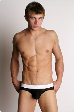 Tulio Power Pouch Mesh Briefs Black/White