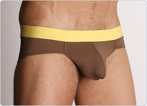 Tulio Power Pouch Slinky Brief Brown/Yellow