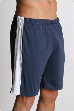Tulio Slinky Gym Shorts with Side Panel Navy
