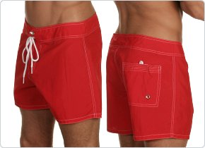 Tulio Swimwear Red Boardshort