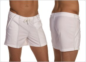 Tulio Swimwear White Volley Short