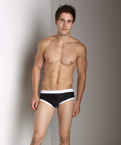 Go Softwear Swim Brief with C-Ring Black/White
