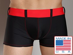 Go Softwear Bond Square Cut Swim Trunk Black/Red