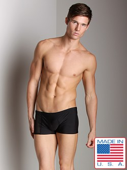 Go Software Noir C-Ring Square Cut Swim Trunk Black