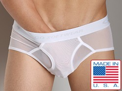 Go Softwear Satin Mesh Boy Brief White