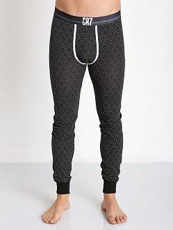 Cristiano Ronaldo CR7 Stretch Cotton Long Johns Black Print