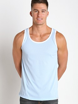 Pump! Frost 21 Mesh Tank Top Baby Blue/White