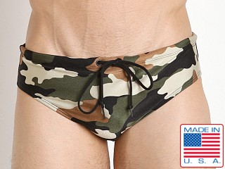LASC Aussie Style Loose Fit Swim Brief Camouflage