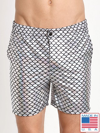 LASC Swim Shorts Silver Sparkle Fish
