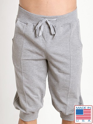 LASC 3/4 Yoga Jogger Short Heather Grey