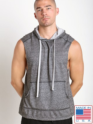 LASC Pullover Sleeveless Hoodie Heather Black