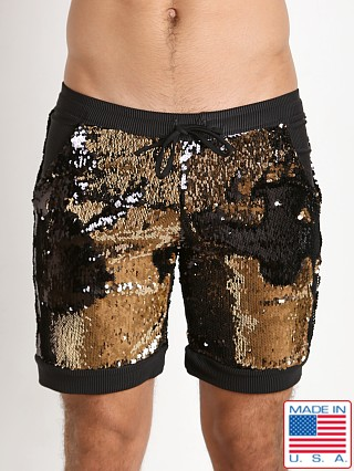 LASC Transformer Sequined Sparkle Short Gold Rush