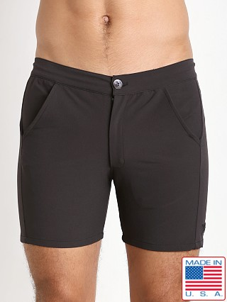 LASC Nylon Spandex Islander Swim Short Black