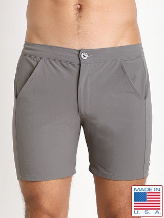 LASC Nylon Spandex Islander Swim Short Grey