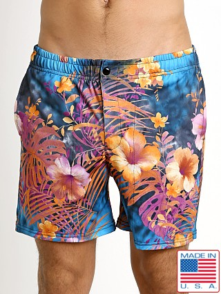 LASC Laguna Swim Trunk Orange Hibiscus