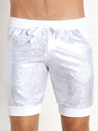 Complete the look: LASC Hologram Sparkle Short White