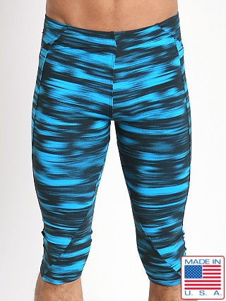 LASC 3/4 Workout Tight Turquoise Print