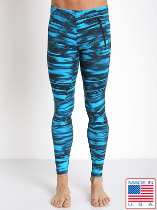 LASC Workout Tight Turquoise Print