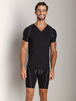 Calvin Klein Athletic V-Neck Shirt Black
