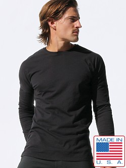 Rufskin Hube Long Sleeve Crew Neck Shirt Black