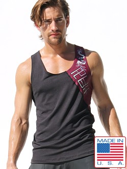 Rufskin Ming Sublimated Shoulder Tank Top Black/Print