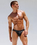 Rufskin Raven Rubber-Look Jockstrap Black, view 2