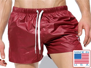 Rufskin Apollo 2 Lightweight Nylon Shorts Burgundy