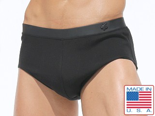 Rufskin Enzo Rayon Spandex Hybrid Swim Brief Black