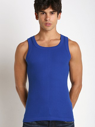 Complete the look: Modus Vivendi Ribbed Tanktop Blue