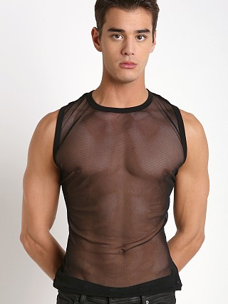 Complete the look: Modus Vivendi Transparent Mesh Tanktop Black