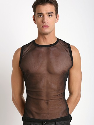 Modus Vivendi Transparent Mesh Tanktop Red