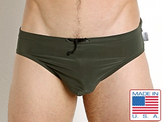 N2N Bodywear Catalina Aussie Swim Brief Olive