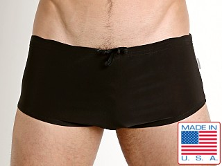 N2N Bodywear Catalina Aussie Swim Trunk Black