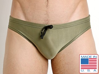 N2N Bodywear Prime Sport Swim Brief Olive