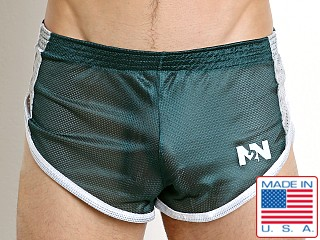 N2N Bodywear Galaxy 2.0 Mesh Split Short Hunter Green