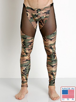 N2N Bodywear Camo Sheer X Runner Army