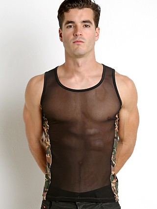 Complete the look: N2N Bodywear Camo Sheer X Tank Army