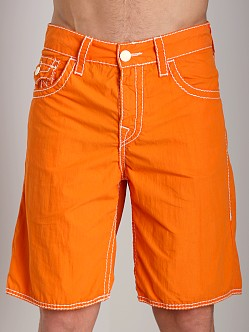 True Religion 5 Pocket Big T Board Shorts Ember