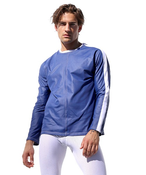 Rufskin Grand Prix Long Sleeve Kimono Shirt Royal
