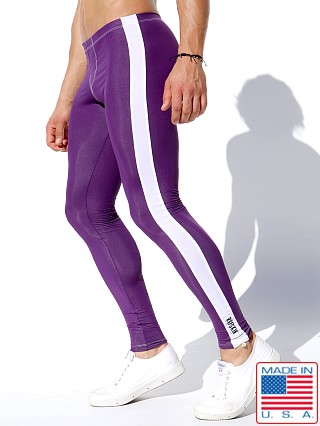 Rufskin Circuit Stretch Sport Leggings Eggplant